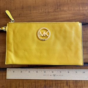 Yellow Michael Kors clutch